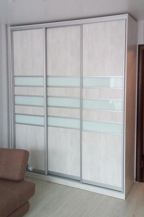 Белые шкафы-купе-Шкаф-купе из ЛДСП «Модель 41»-фото1