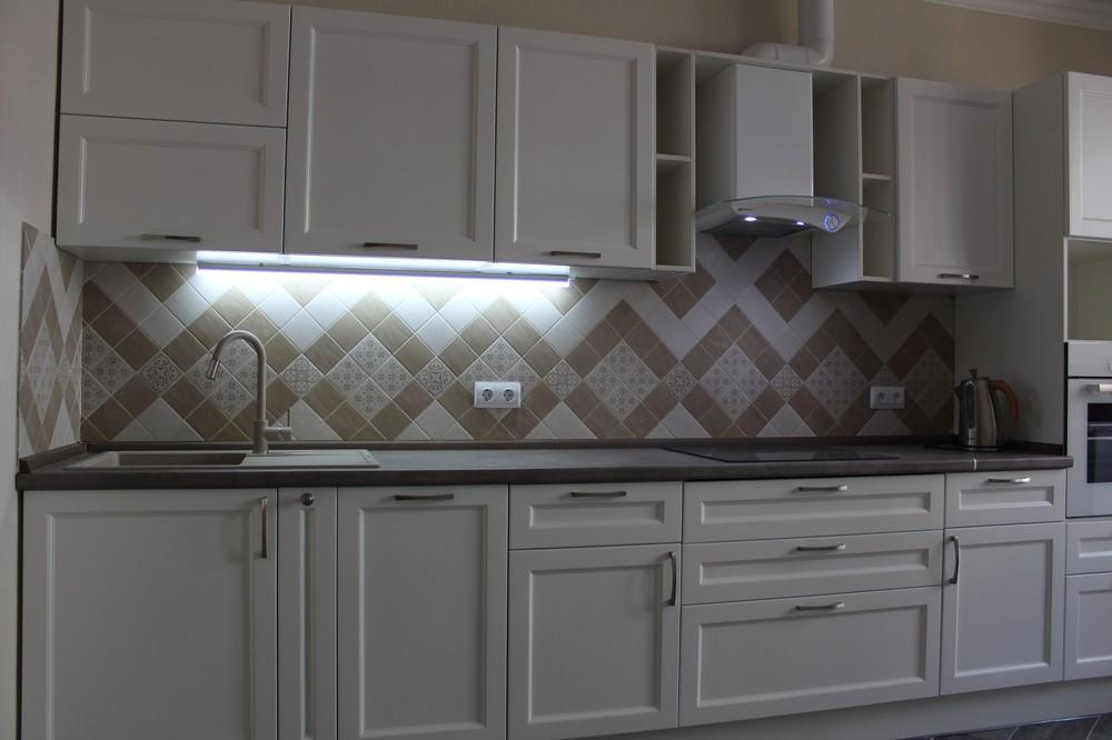 Белый кухонный гарнитур-Кухня МДФ в ПВХ «Модель 294»-фото2