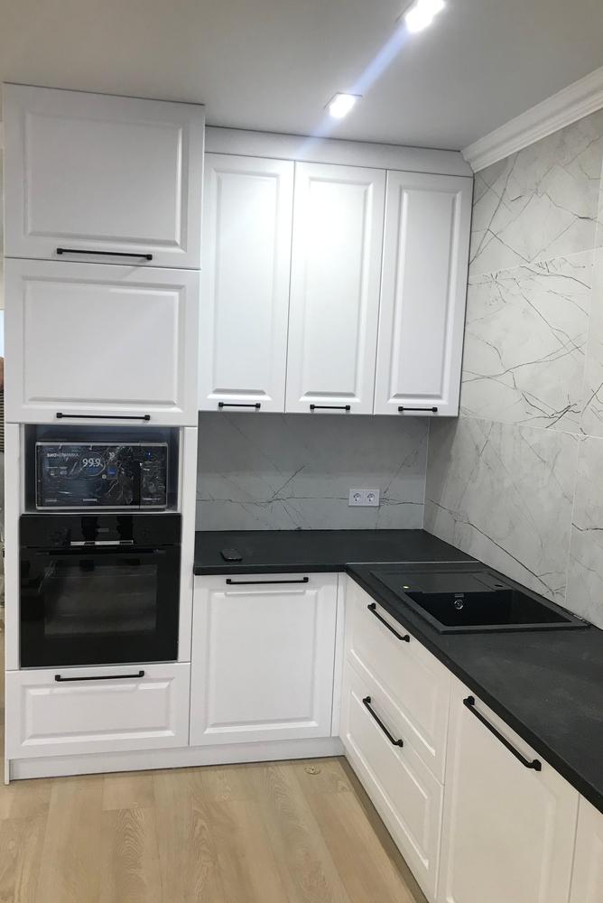 Белый кухонный гарнитур-Кухня МДФ в ПВХ «Модель 553»-фото4