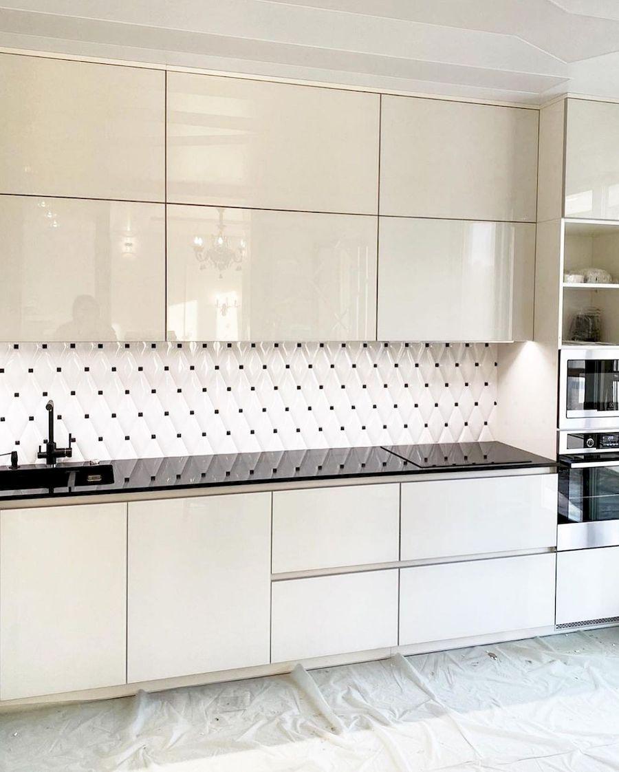 Акриловые кухни-Кухня из акрила «Модель 664»-фото2