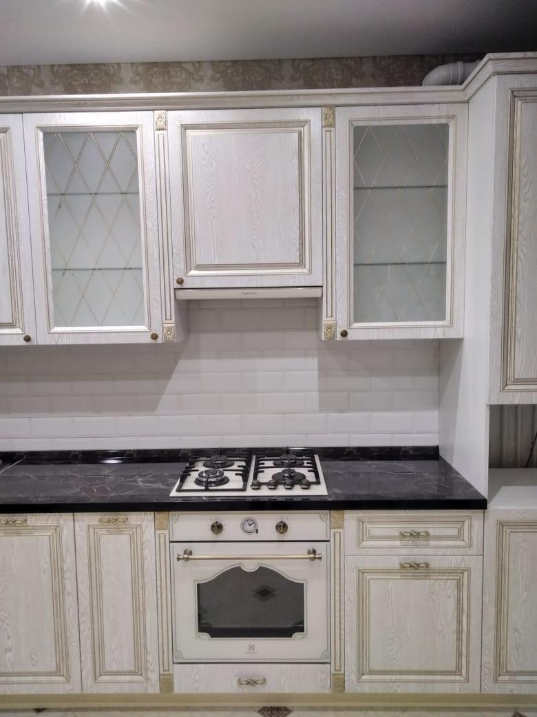 Белый кухонный гарнитур-Кухня из шпона «Модель 581»-фото5