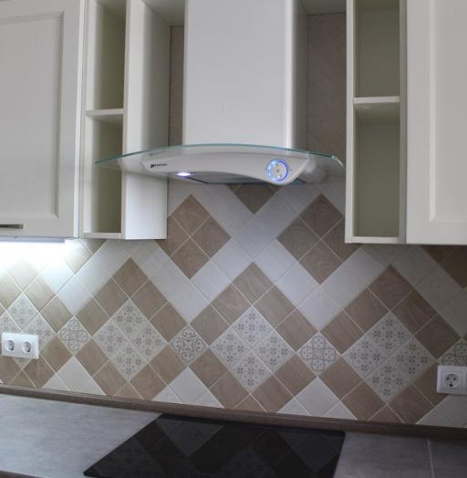 Белый кухонный гарнитур-Кухня МДФ в ПВХ «Модель 294»-фото8