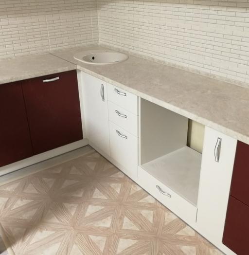 Встроенная кухня-Кухня МДФ в эмали «Модель 18»-фото7