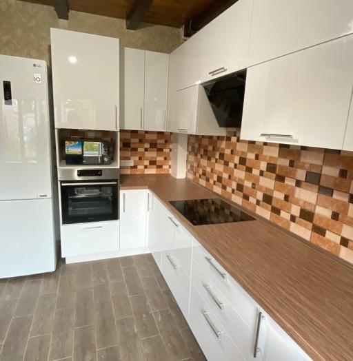 Белый кухонный гарнитур-Кухня МДФ в ПВХ «Модель 568»-фото5