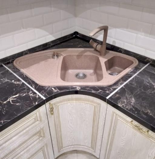 Белый кухонный гарнитур-Кухня из шпона «Модель 581»-фото10