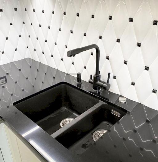 Акриловые кухни-Кухня из акрила «Модель 664»-фото6