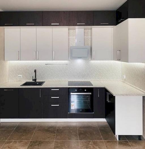 Белый кухонный гарнитур-Кухня МДФ в ПВХ «Модель 681»-фото5